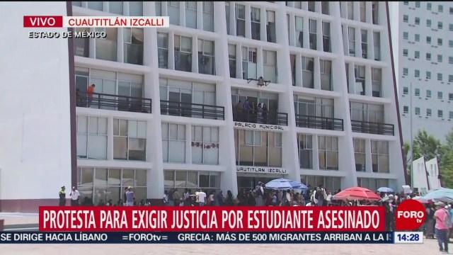 FOTO: Protestan Para Exigir Justicia Por Alumno Asesinado Cuautitlán Izcalli