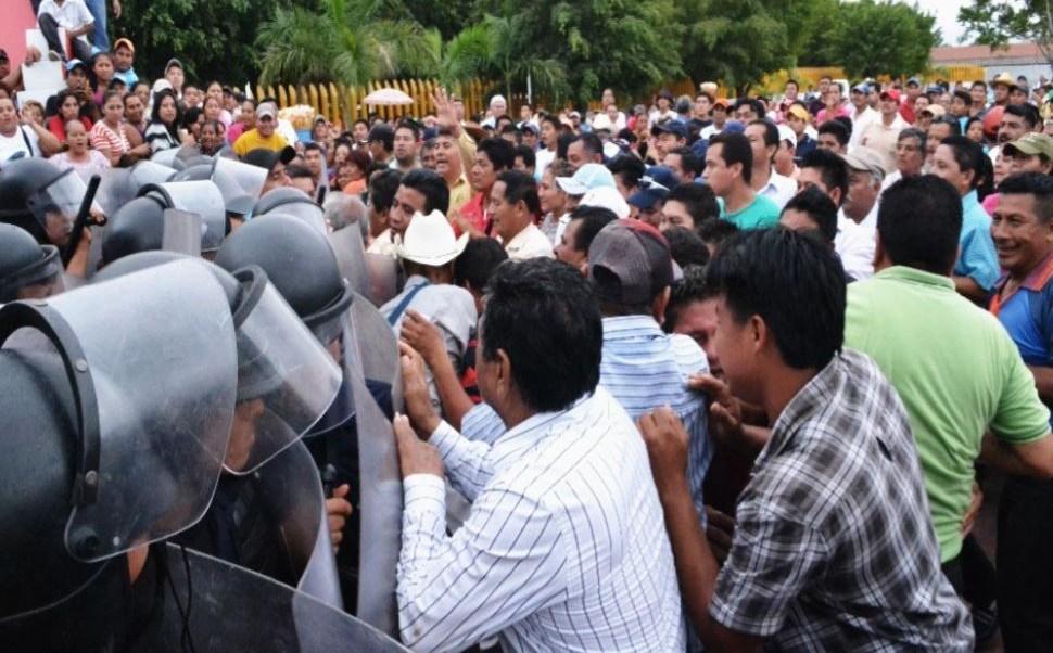 Protestas y represión en Guadalajara