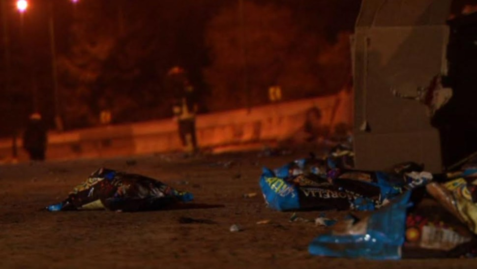 Foto: La circulación en los dos sentidos de la carretera federal a Toluca se vio afectada por más de 3 horas, 25 de agosto de 2019 (Noticieros Televisa)