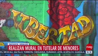 FOTO: Realizan mural en Tutelar de Menores en Pachuca, Hidalgo, 18 Agosto 2019