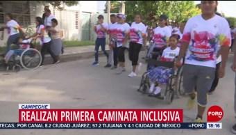 FOTO: Realizan primera caminata inclusiva en Campeche, 18 Agosto 2019