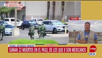 Realizarán autopsia a víctimas de tiroteo en El Paso, Texas