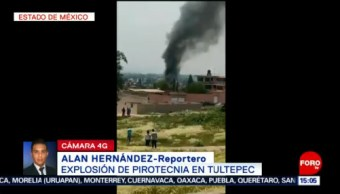 FOTO: Reguardan zona donde explotó pirotecnia en Tultepec, 25 Agosto 2019