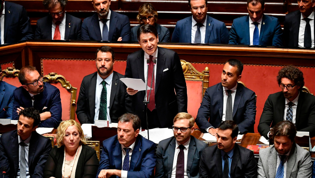 FOTO Renuncia el primer ministro de Italia, Giuseppe Conte (AP)