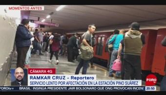 Foto: Reportan Fallas L1 Pino Suarez Metro Cdmx 21 Agosto 2019