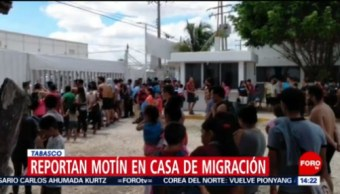 FOTO: Reportan motín en casa de migración en Tabasco, 18 Agosto 2019