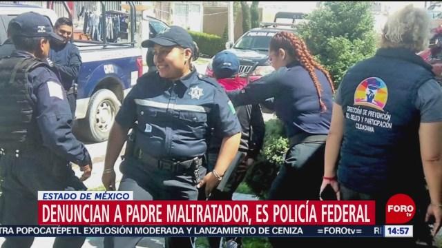 FOTO: Rescatan Niños Maltratados Chalco Padre Elemento Policía Federal