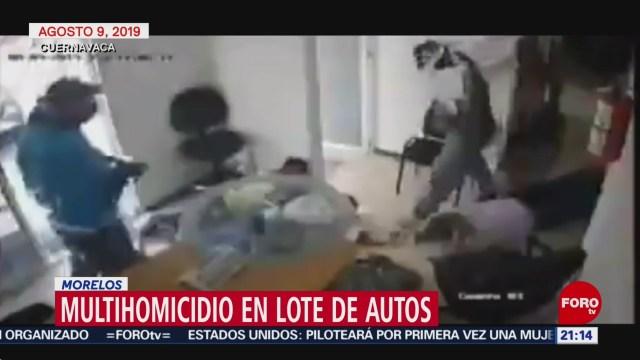 Foto: Video Momento Multihomicidio Lote Autos Morelos 15 Agosto 2019