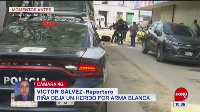 Riña deja un herido por arma blanca en la alcaldía Cuauhtémoc