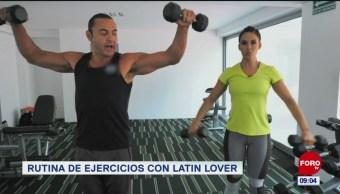 Rutina de ejercicios con Latin Lover