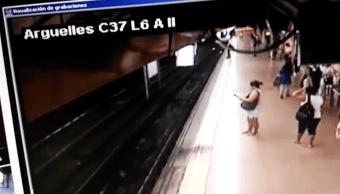Foto: Estación Arguelles del Metro de Madrid. 6 Agosto 2019