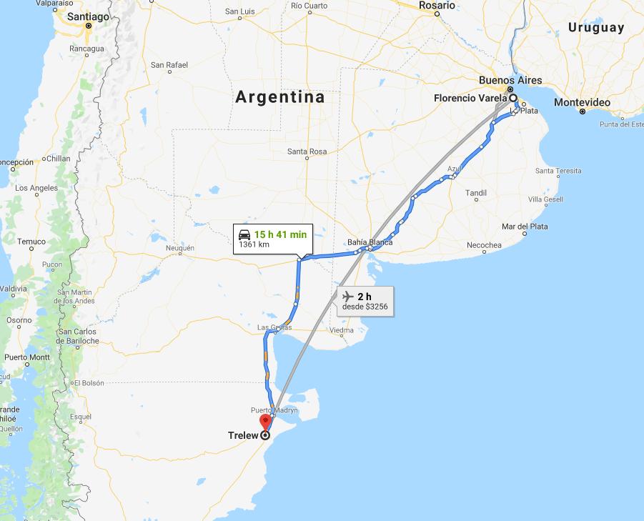 Foto: Recorrido de Trelew a La Varela, Argentina. 8 agosto 2019