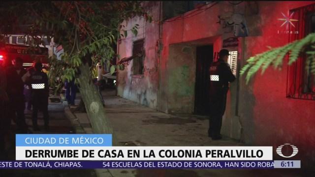 Se desploma techo de casa en la colonia Peralvillo, CDMX