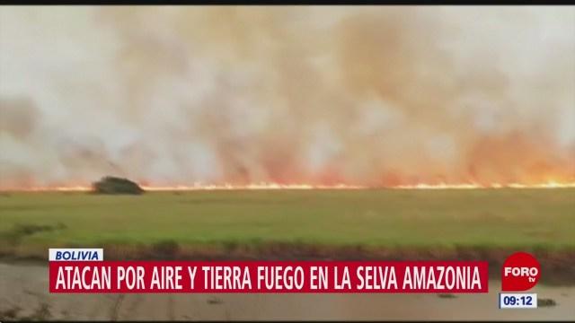 Se extiende incendio en selva amazónica
