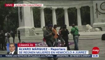 FOTO: Se reúnen mujeres en el Hemiciclo a Juárez, 17 Agosto 2019