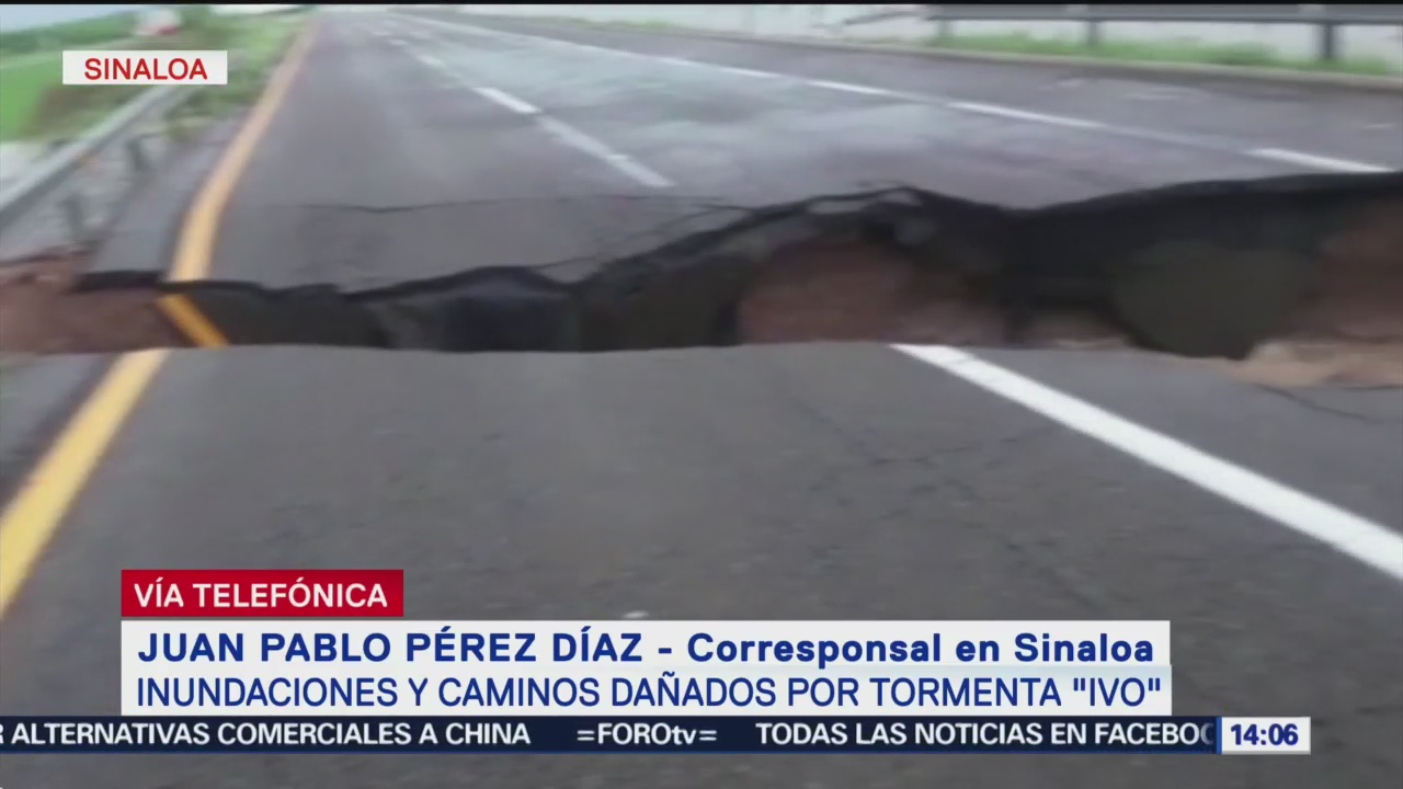 Foto: Inundaciones Provoca Tormenta Ivo Sinaloa 23 Agosto 2019