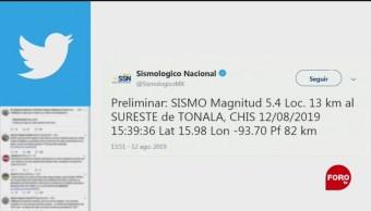 Foto: Sismo Magnitud 5.4 Chiapas