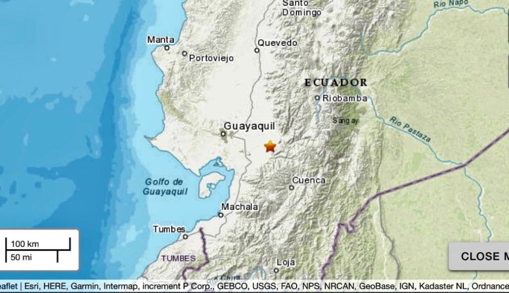 Foto: Un sismo de 5.1 grados de magnitud se sintió en varias ciudades de Ecuador la madrugada de este domingo, 18 agosto 2019
