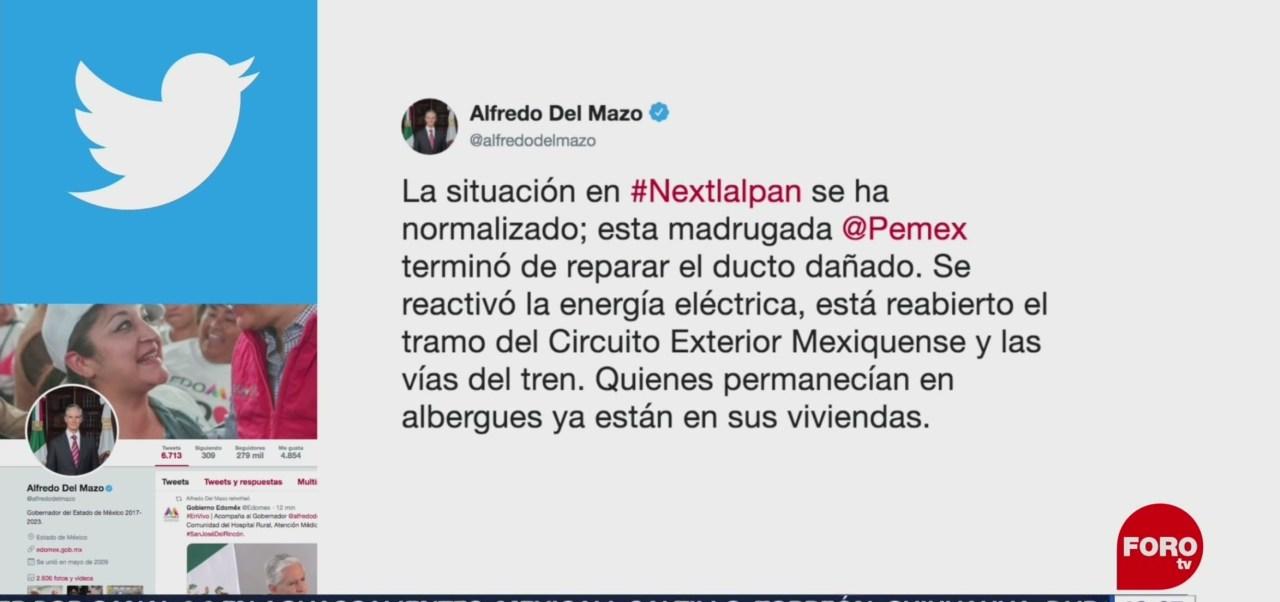 FOTO: Situación en Nextlalpan se normaliza: gobernador del Edomex, 3 AGOSTO 2019