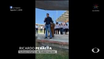 Foto: Subsecretario Gobernación Evento Autodefensas Tamaulipas 15 Agosto 2019