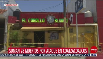 Suman 29 muertos por ataque a bar de Coatzacoalcos, Veracruz