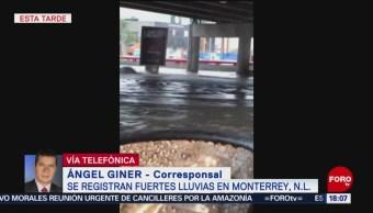 FOTO: Tormenta deja a autos bajo el agua en Monterrey, Nuevo León, 24 Agosto 2019