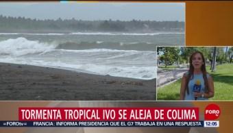 Tormenta tropical 'Ivo' se aleja de Colima