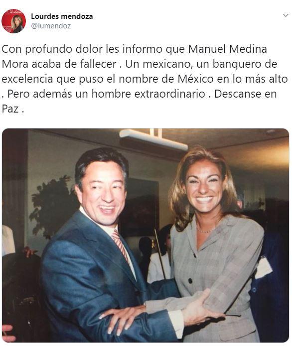 A través de sus redes sociales, la periodista Lourdes Mendoza dio a conocer esta noticia