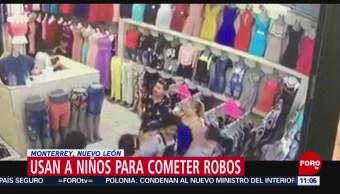 Usan a niños para cometer robos en Monterrey, Nuevo León
