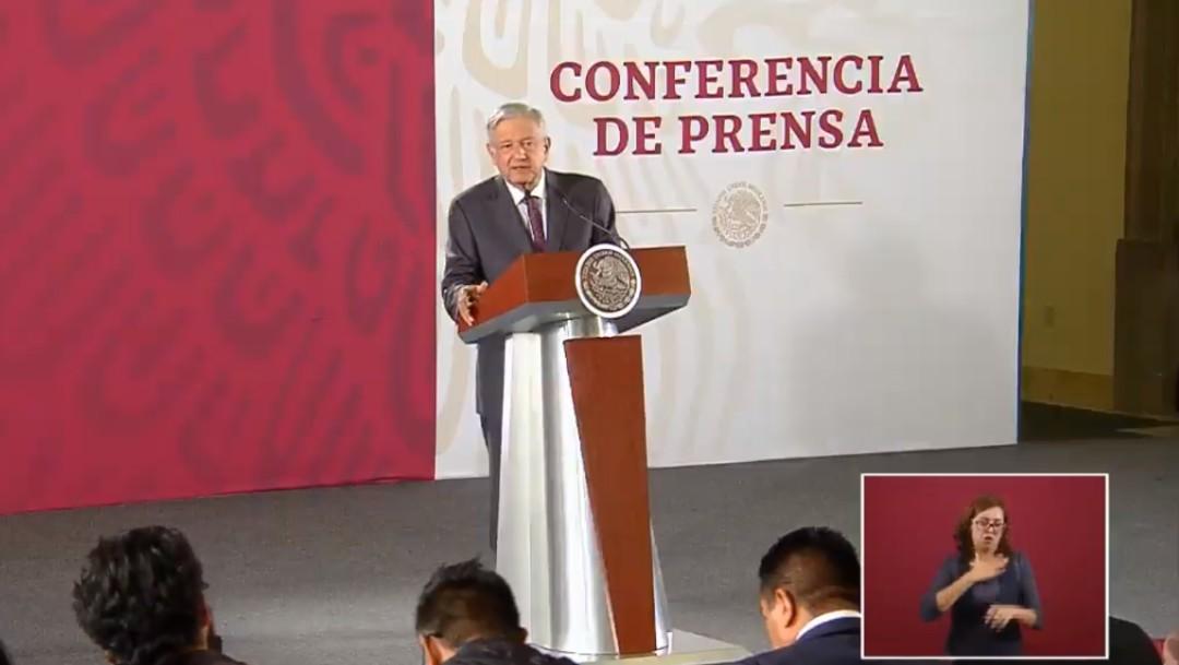 Foto: López Obrador en conferencia de prensa, 16 de agosto de 2019, Ciudad de México