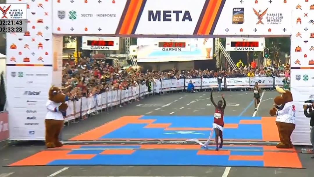 Vivían Kiplagat ganó el primer lugar en el Maratón Ciudad de México, 25 agosto 2019