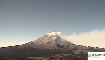 Foto: El volcán Popocatépetl registra emisión de gases volcánicos y ceniza que se dispersan al oeste, 30 agosto 2019