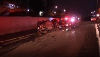 Foto: Vuelca camioneta en Álvaro Obregón, 5 de agosto de 2019, Ciudad de México