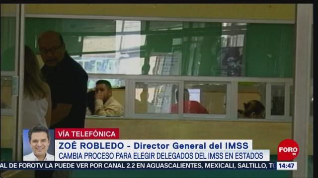 FOTO: Zoé Robledo habla proceso para elegir delegados IMSS