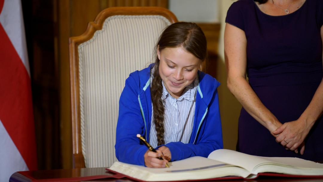 Foto: Greta Thunberg en Canadá, 27 de septiembre de 2019 (Reuters)