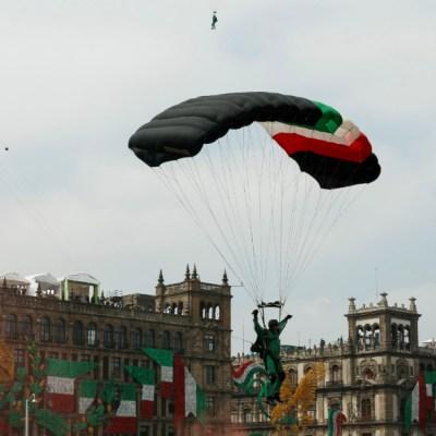 Reportan fuera de peligro a paracaidista accidentado en desfile militar