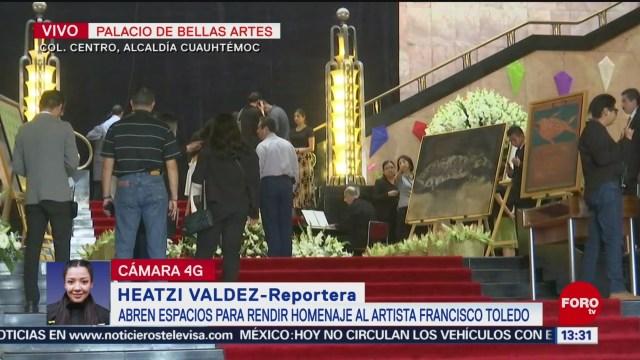 FOTO: Abren Espacio Para Rendir Homenaje Francisco Toledo Bellas Artes