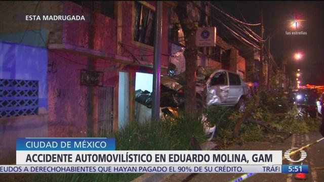 Accidente automovilístico en Eduardo Molina deja un muerto