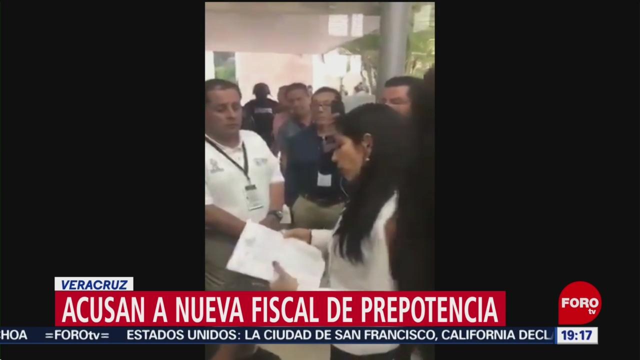 Foto: Verónica Hernández Nueva Fiscal Veracruz Prepotencia 4 Septiembre 2019