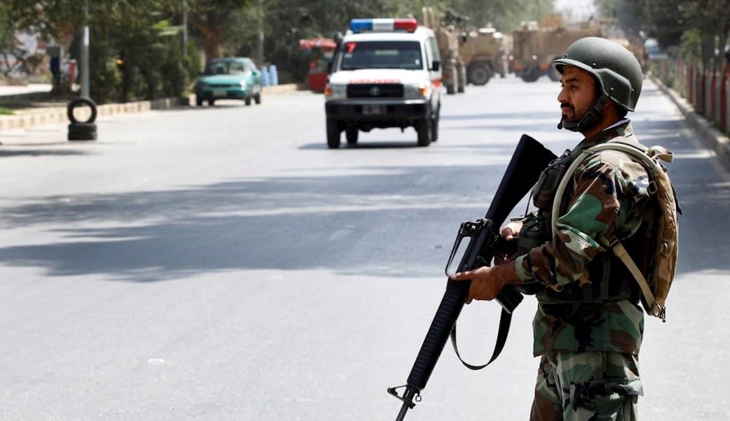 Fotografía que muestra a las fuerzas de seguridad afganas, 7 septiembre 2019