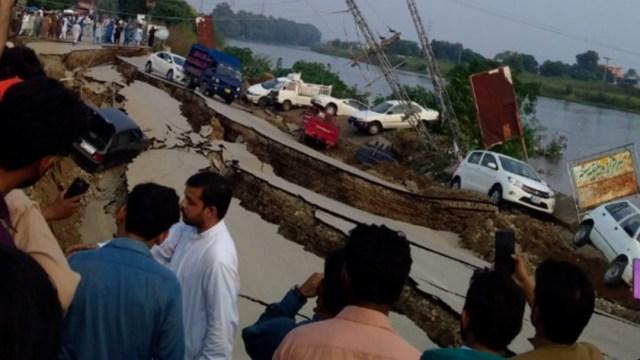 Foto: El terremoto se produjo a cinco kilómetros de la ciudad de Jehlum, en la Cachemira controlada por Pakistán, y por ahora la zona más dañada en esa región parece ser Mirpur, 24 de septiembre de 2019 (Twitter @SismoMundial)