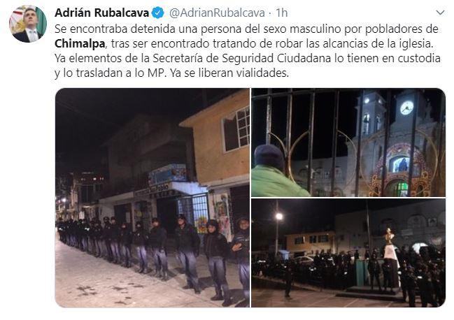 FotoAlcalde de Cuajimalpa confirma intento de linchamiento 4 septiembre 2019