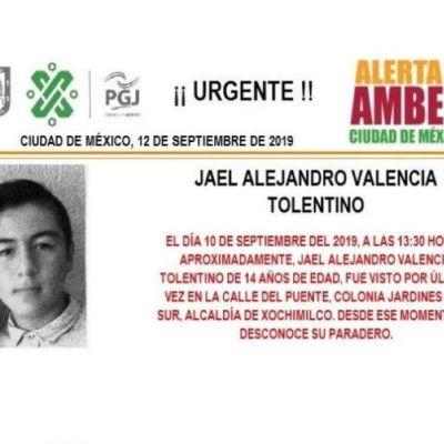 Alerta Amber: Ayuda a localizar a Jael Alejandro Valencia Tolentino