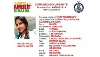 Foto: Alerta Amber para Bricney Yuleisi Galaviz Valdez, 21 de septiembre de 2019, México