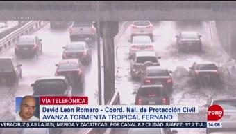 FOTO: Alerta Por Tormenta Tropical Fernand
