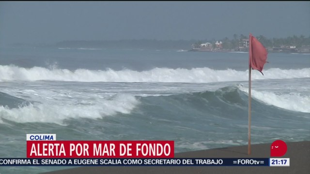 Foto: Alerta Mar Fondo Costas Colima 26 Septiembre 2019
