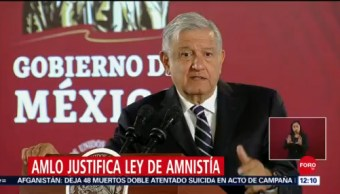AMLO afirma que Ley de Amnistía ayudará a gente humilde