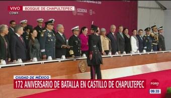 AMLO encabeza 172 aniversario de la gesta heroica de los Niños Héroes
