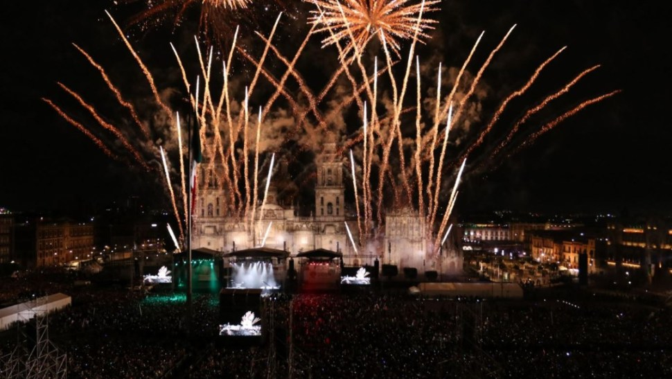"""Foto: Se estima que más de 100 mil personas asistieron al primer """"Grito"""" de Independencia del presidente Andrés Manuel López Obrador, el 16 de septiembre de 2019 (Galo Cañas /Cuartoscuro.com)"""