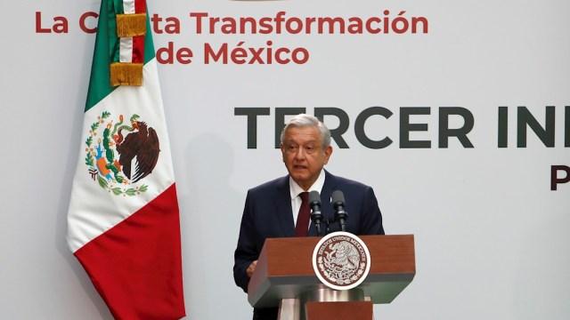 fOTO: El presidente de México, Andrés Manuel López Obrador, presenta su primer informe de gobierno en el Palacio Nacional, 1 septiembre 2019
